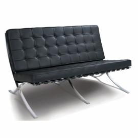 Sessel Barcelona Half-Leather 2 Sitzer