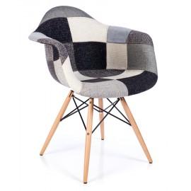 Stuhl Patchwork XL Grau