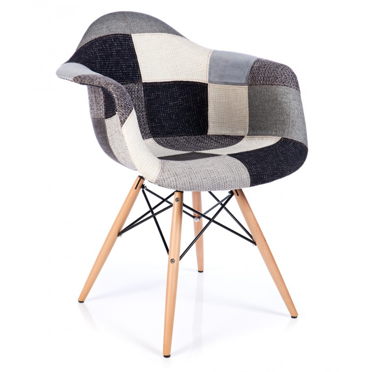 Stuhl Patchwork XL Grau - Designerstühle