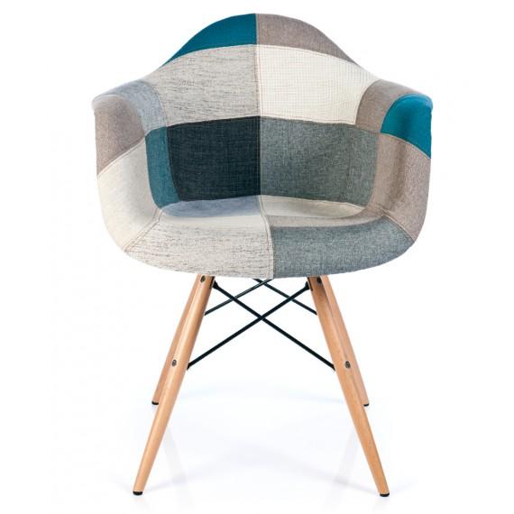 Stuhl Patchwork XL Blau - Designerstühle