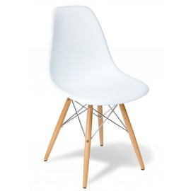 "Stuhl Lemans Wood ""Hohe Qualität"" Chrome Edition"