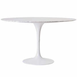 Stół do Dining Tulip 100cm z marmuru Carrara