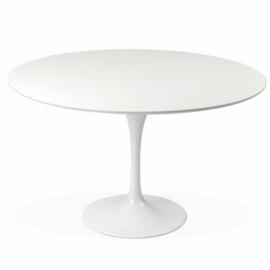 Jídelní stůl Dining Tulip 100cm vyrobený z bílé MDF