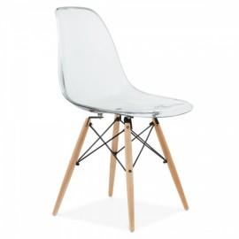 """James DSW -tyylinen läpinäkyvä tuoli """"Uusi painos"""""""