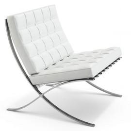 Židle Barcelona napůl kůže
