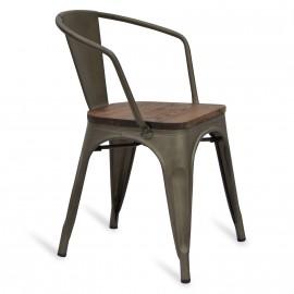Krzesło Industrial Bistro z podłokietnikami
