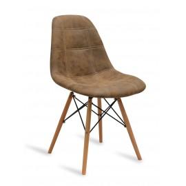 Stuhl Lemans Wood Brown Cover Braun