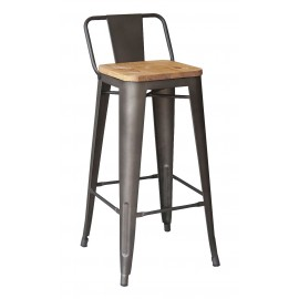 Hocker Bistro LB Wood Antique