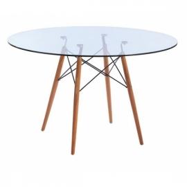 Skleněný stylový stůl furmod Eames (120 cm)