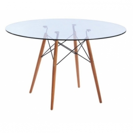furmod Eames szklany stół stylowy (120 cm)