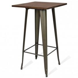 Alta Bistro Dark Legs antiikkinen teollisuuspöytä