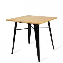 Industriële tafel Bistro Light Poten Zwart