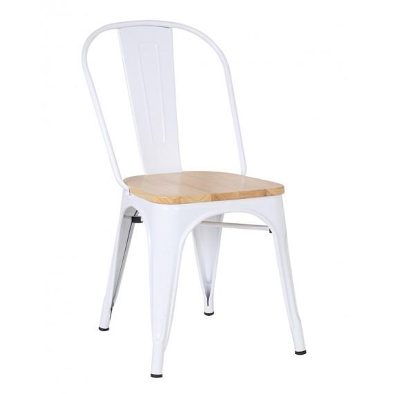 Krzesło industrialne Bistro w stylu drewna