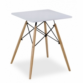 Stół James Style (60 cm Kwadrat) Biały