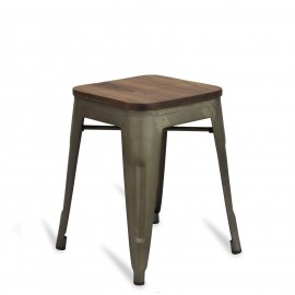Hocker Bistro Wood Antique 45cm