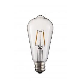 2W 2 ledd LED-lampa med E27 och 220-240V stöd