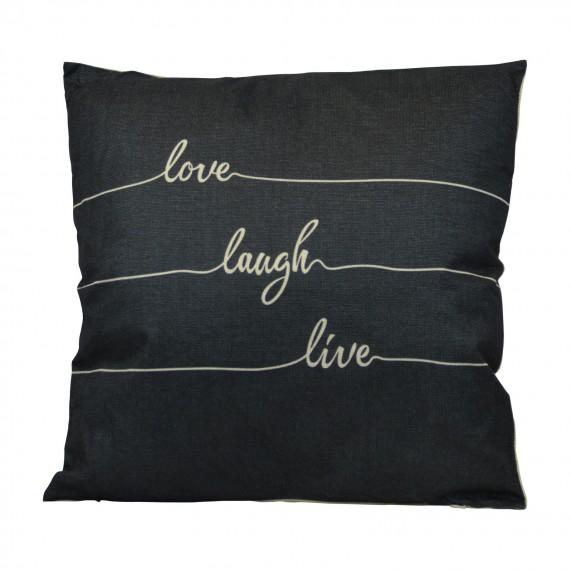Cojín Love Laugh Live