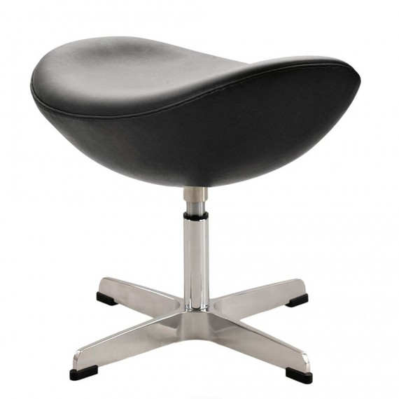 Ottoman des Egg stuhl aus Leder von Designer Arne Jacobsen