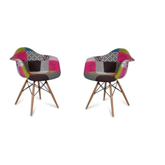 Pack de 2 Sillas Patchwork Pink XL