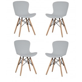 Pack de 4 Sillas Tower Wood New Edition