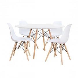 Pack 4 Stühle James und 1 Tisch James 120 cm