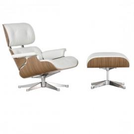 Lemans Lounge Chair Special Edition gemaakt van volnerfleer en walnoothout