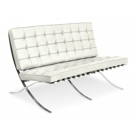 furmod Barcelona Krzesło półskórzane 2 miejsca