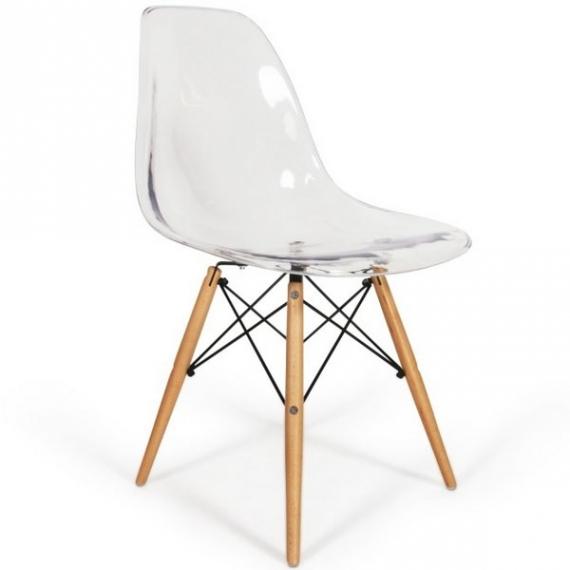 Stuhl Bristol Holz Transparent