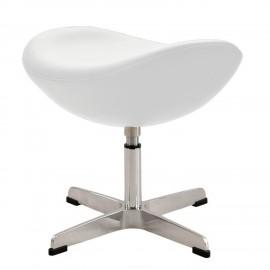 Otomańska replika skórzanego fotela jajecznego autorstwa projektanta Arne Jacobsen