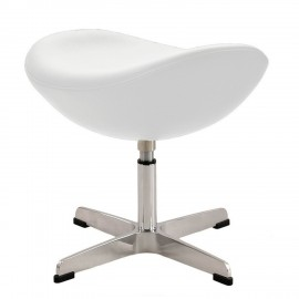 Ottomaanse replica van de lederen Egg Chair van ontwerper Arne Jacobsen
