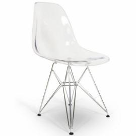 Transparentní kovová židle James - designová židle