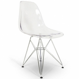 Stuhl Bristol Metal Transparent - Designerstühle
