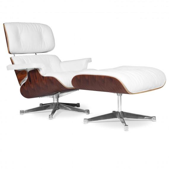 Eames Lounge Chair Replik aus Kunstleder und Chrom von Charles & Ray
