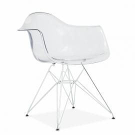 furmod Eames DAR -tyyppinen tuoli läpinäkyvä