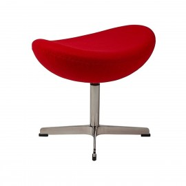 Otomańska replika fotela Egg z kaszmiru autorstwa projektanta Arne Jacobsen