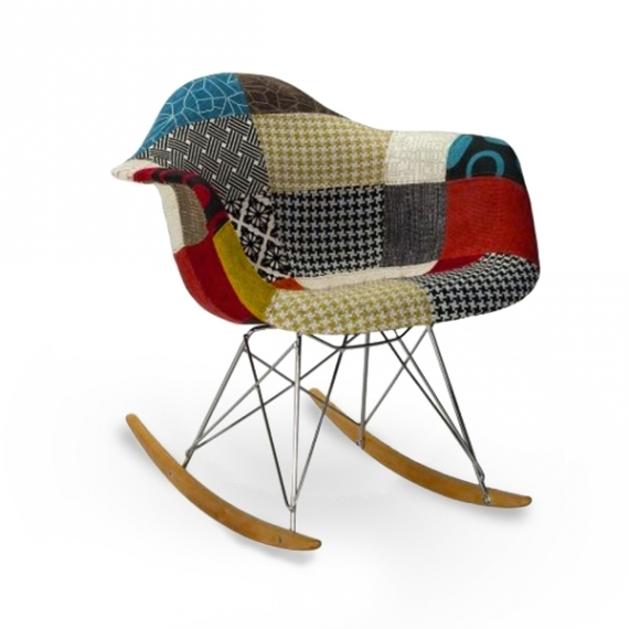 Schaukelstuhl Rocking Lemans Rar Patchwork Modern Sessel