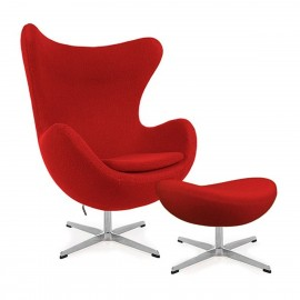 furmod Silla Egg Chair con Reposapies