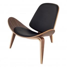 Replika židle Shell Ch07 z ořechového dřeva