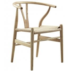 Wish CH24 Handgemaakte stoel gemaakt van essenhout