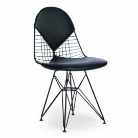 Krzesło inspiracyjne Eames DKR-2 Bikini Black Edition