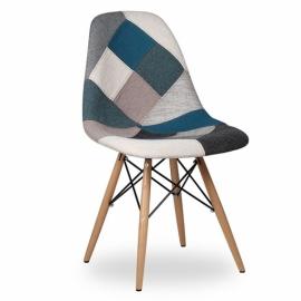 furmod Patchwork Style Chair Blue