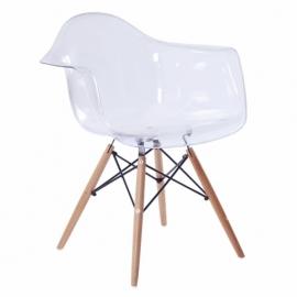 Przezroczyste krzesło w stylu Jamesa