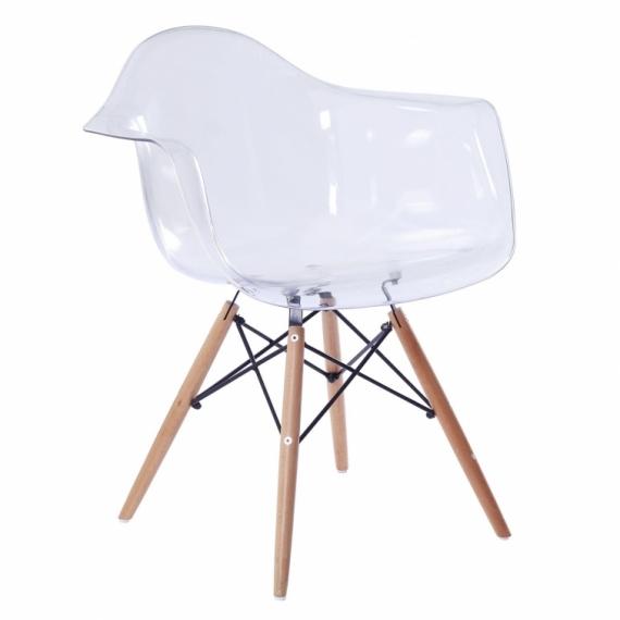 Stuhl Bristol Holz XL Transparent