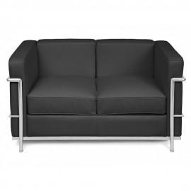 Sofa Beckham 2 Sitzer aus Narbenleder