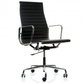 Krzesło biurowe Alu HighBack wykonane ze skóry licowej