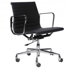 Alu Kancelářská židle vyrobená z lícové kůže
