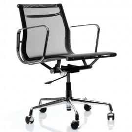 Replika hliníkové kancelářské židle EA107 od společnosti <span class='notranslate' data-dgexclude>Charles & Ray Eames</span> .