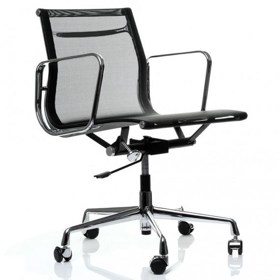 Replika hliníkové kancelářské židle EA107 od společnosti Charles & Ray Eames .