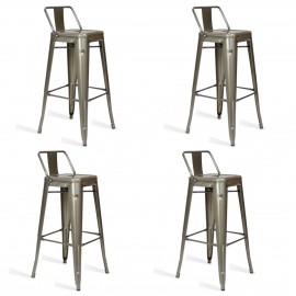 Balení 4 Průmyslové stoličky Bistro LB