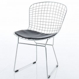 Bertoia Stuhl aus Verchromtem Stahl